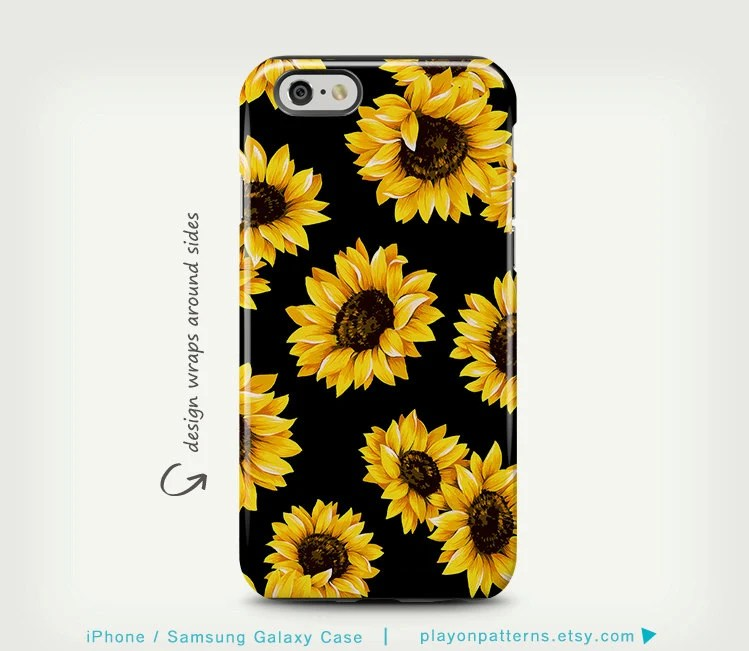 3d Sunflower Wallpaper Sunflower Iphone 6 Case Floral Iphone 6 Plus Case Iphone Se