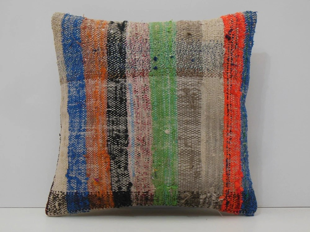 Hand Woven Striped Fabric Natural Pillow Case Stripe