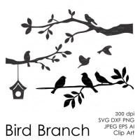 Bird On A Branch Silhouette Clip Art | www.pixshark.com ...
