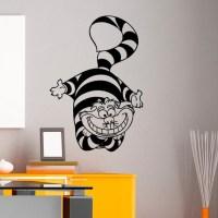 Alice In Wonderland Wall Decal Vinyl Sticker Cheshire Cat