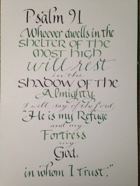 Psalm 91 Wall Art Scripture Art Bible Verse by ...