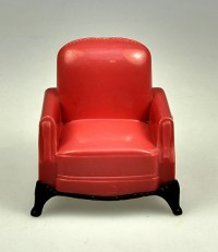 1950's Salmon Color Living Room Chair Doll House Furniture