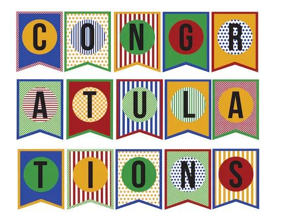 Printable Congratulations Signs wwwpicsbud