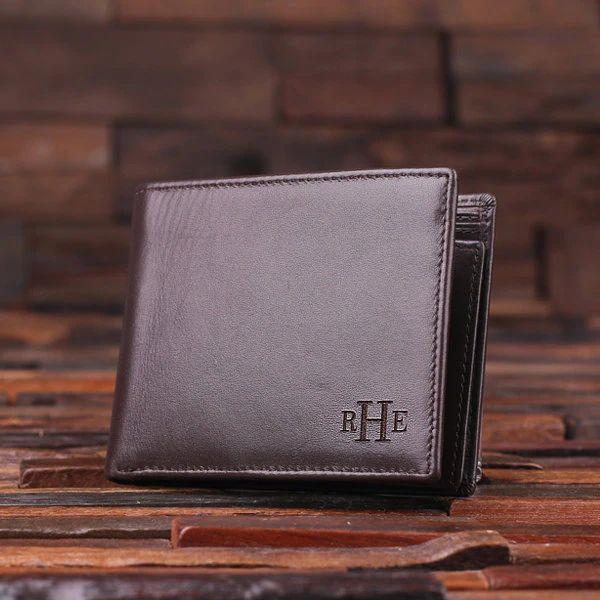 monogrammed wallet for men