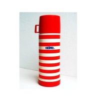 Vintage Thermos White and Red Stripes Print Blue Logo by ...