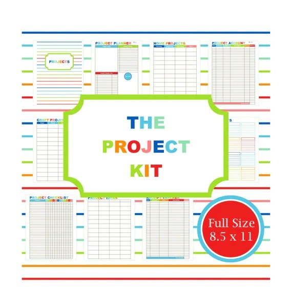 PROJECT PLANNER KIT printable planner to do list budget - project to do list templates