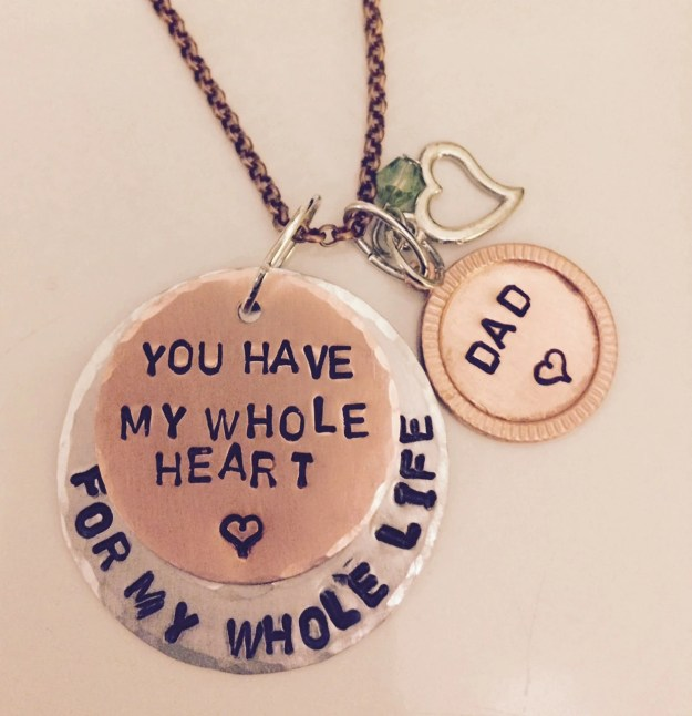 Personalized Hand Stamped Hammered Memory Necklace