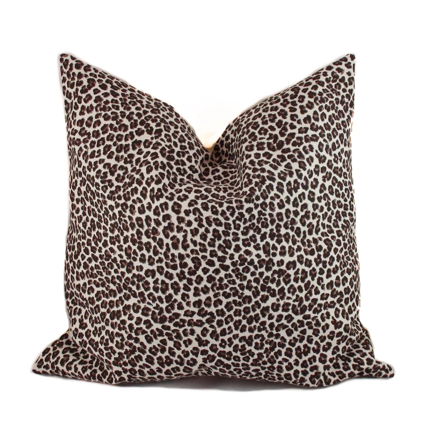 Leopard Pillow 18x18 Animal Print Pillow Decorative Pillow