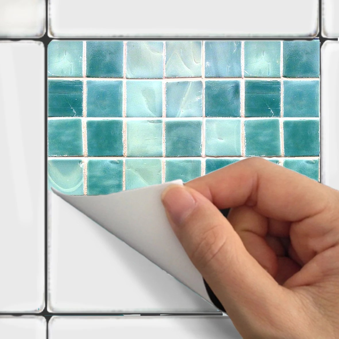Wall Tile Decals Vinyl Sticker Waterproof Tile Or By