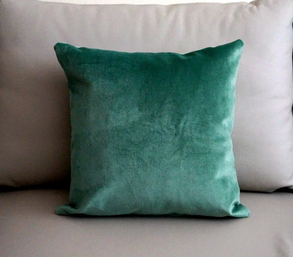 Blue Velvet Cushion Teal Velvet Pillow Cover Blue Velvet Cushion Green Velvet