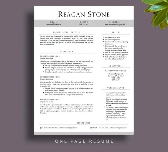 Free Resume Templates That Stand Out Free Resume Templates Download Microsoft Word Resumes Professional Resume Template For Word And By Printablesbylulu