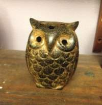 Owl tealight candle holder by RadarOddities on Etsy