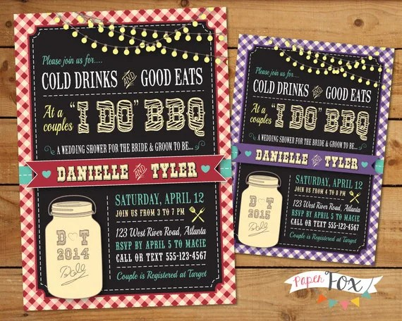 I Do BBQ Invitations For Weddings, Engagement Parties  Couples