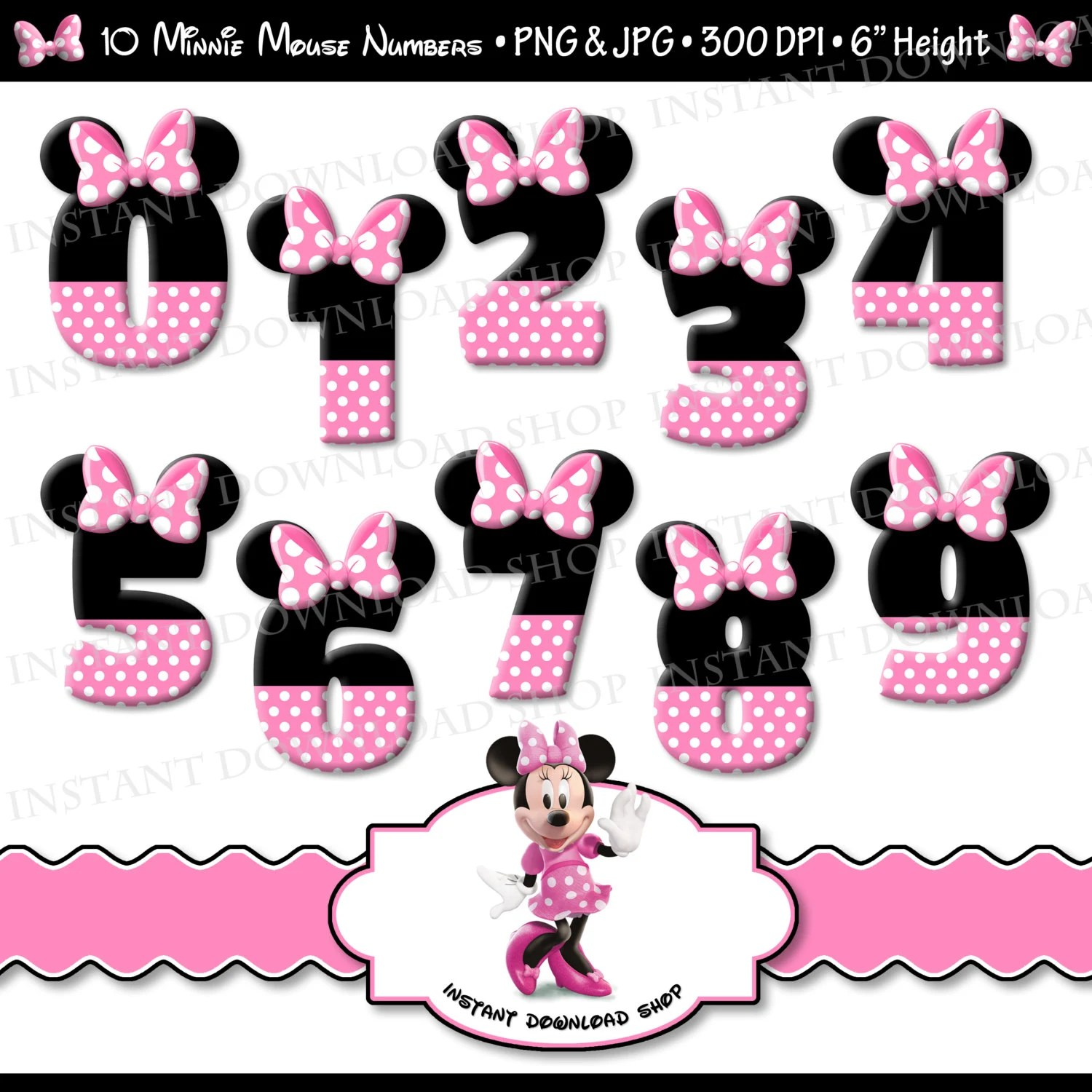 Make Your Own Monogram Iphone Wallpaper Instant Download Minnie Mouse Numbers Minnie Mouse Digital