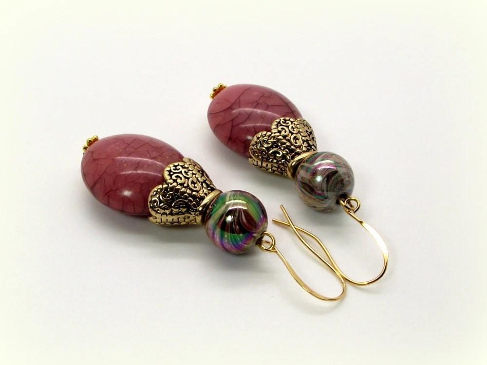 Blush Dusty Rose Earrings Pink Earrings
