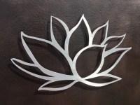 Brushed Lotus Flower Metal Wall Art Lotus Metal Art Home