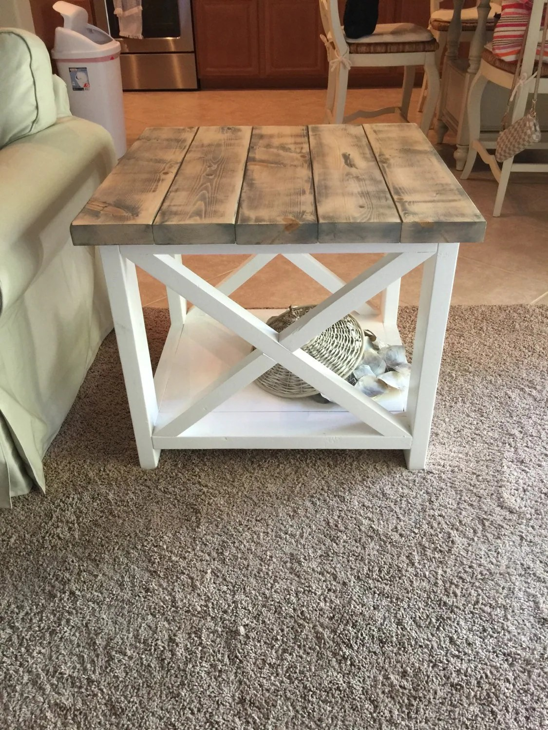 Twisted Metal 4 Construction Yard Soundtrack Custom Rustic Farmhouse End Table