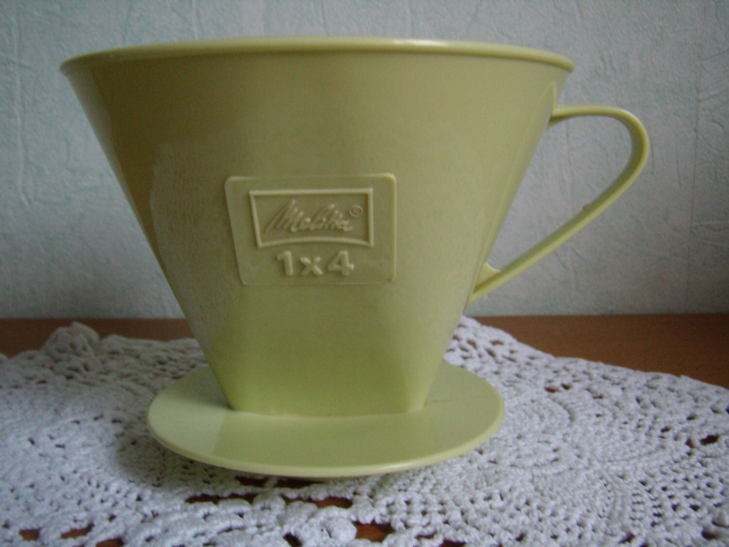 Coffee Melitta 1 X 4 Green Plastic Filter Holder Vintage
