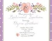 Bridal luncheon invitatio...