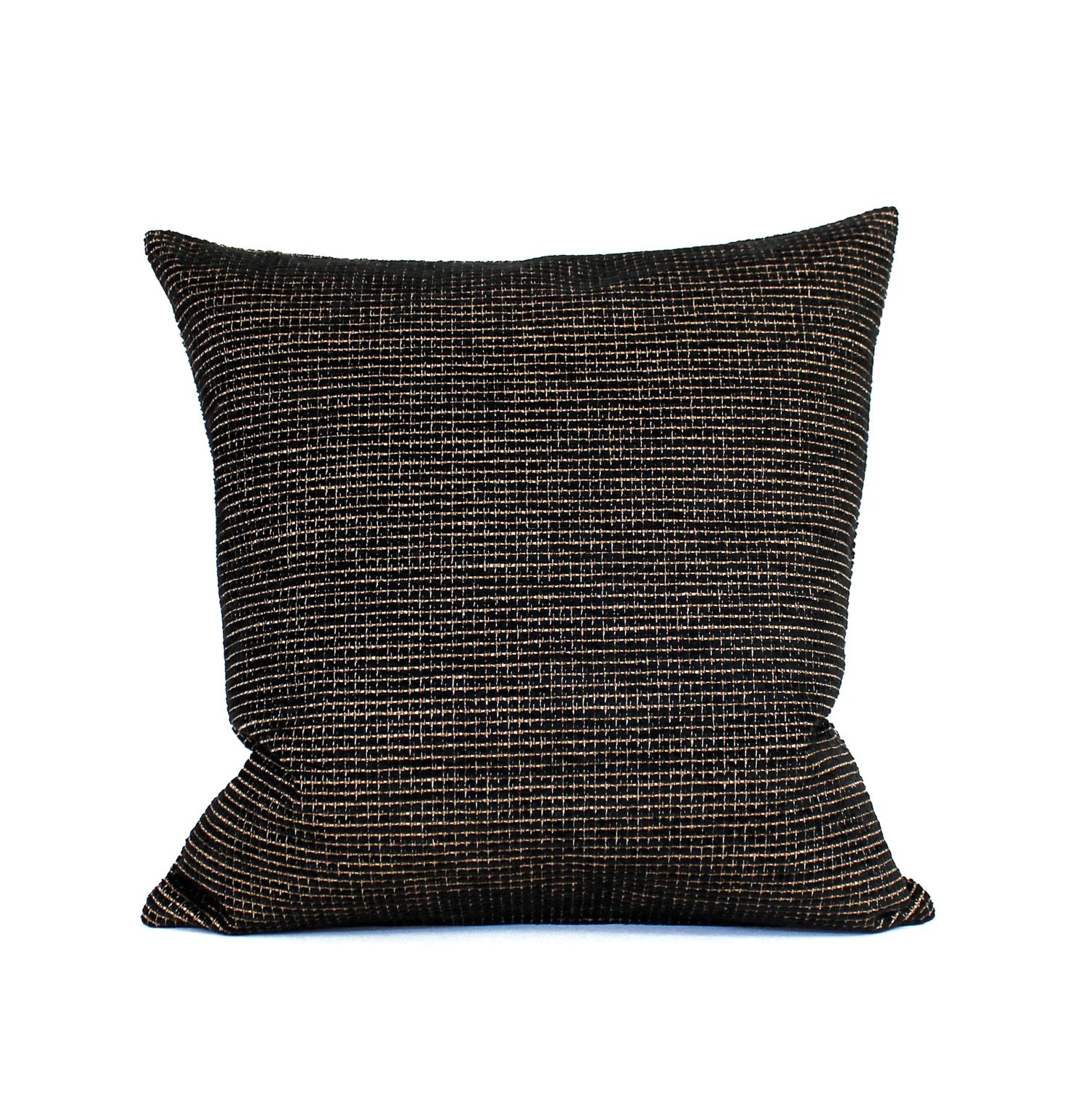 16x16 Black Pillow Cover Chenille Upholstery Fabric Decorative