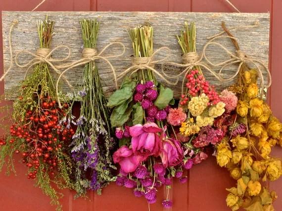 Rustic Fall Wallpaper Flower Drying Rackdried Flower Arrangementwall Decordried
