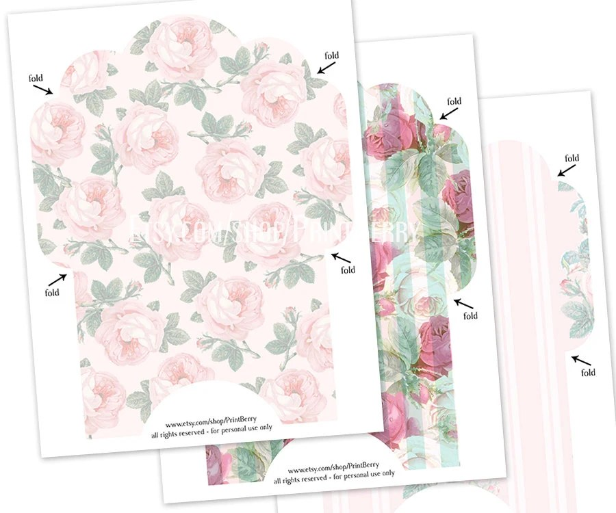 4x6 Envelopes Printable envelope template Pink envelope Floral - 4x6 envelope template