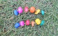 Rainbow Colored Stone Beaded Earring by Michkai on Etsy