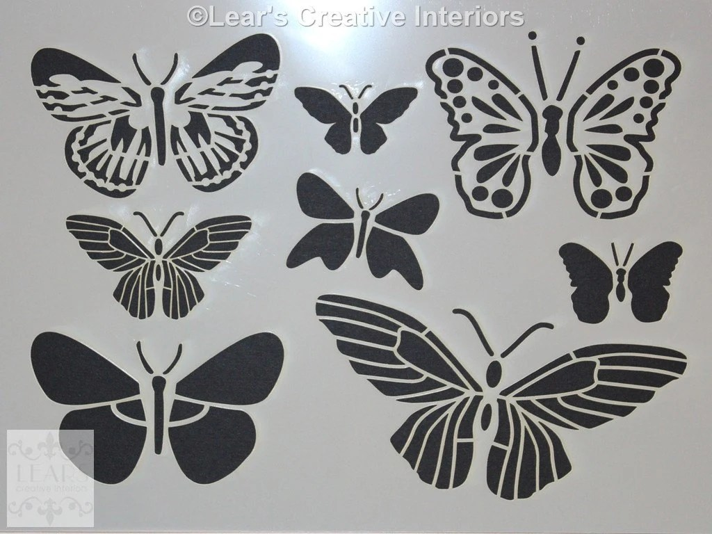 Butterfly Wall Stencils Painting Butterfly Stencil Butterflies A4 Decal Wall Art By Lear 39s