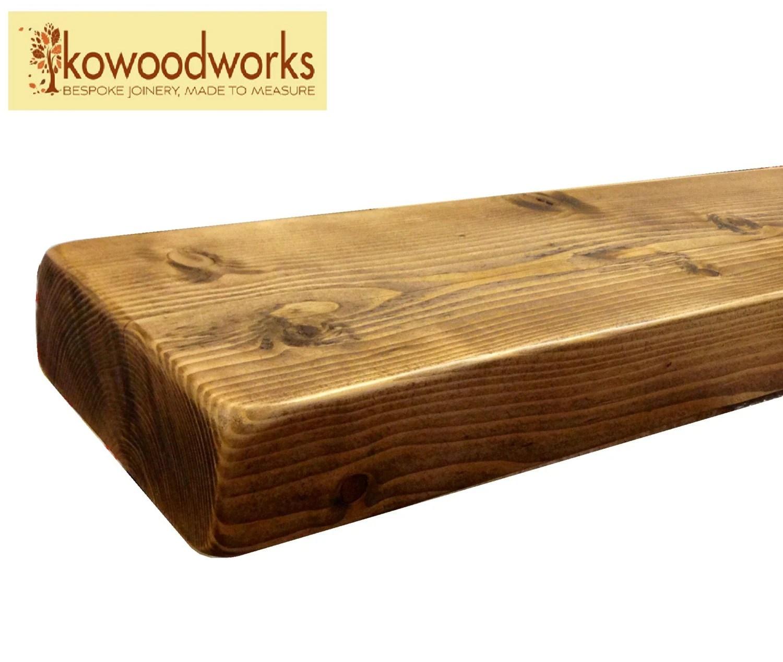 6 X 2 Wooden Floating Pine Shelf Shelves