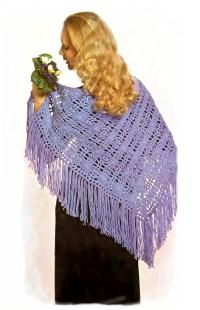 crochet shawl pattern, summer shawl, vintage crochet ...