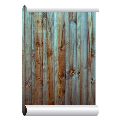 Self-adhesive Removable Wallpaper Old Wood Fence Wallpaper