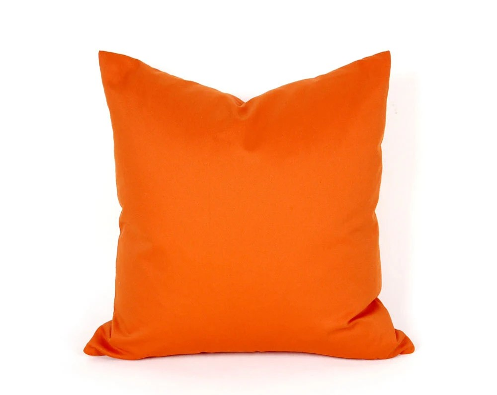 Bright Orange Throw Pillow Solid Orange Pillow Covers