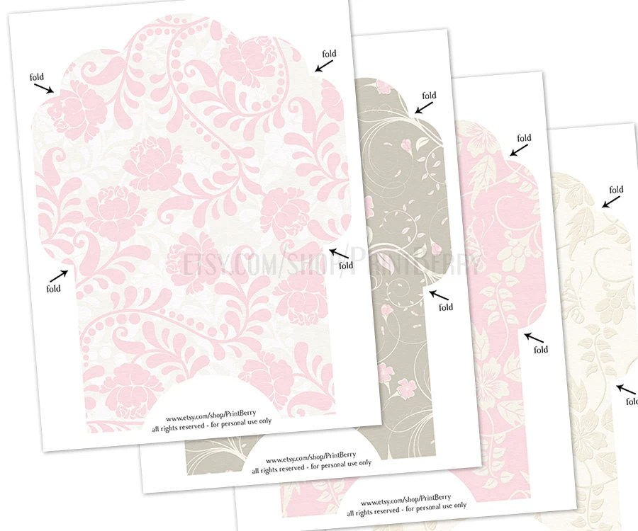 Floral envelopes 4x6 Envelopes Printable envelope template pastel - 4x6 envelope template