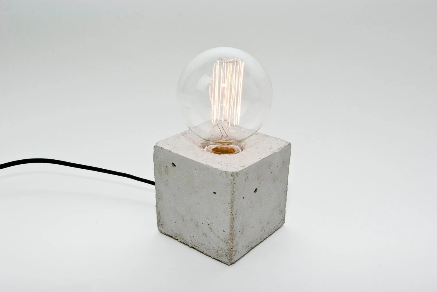 Tischlampe Beton Lj Lamps Alpha Concrete Table Lamp