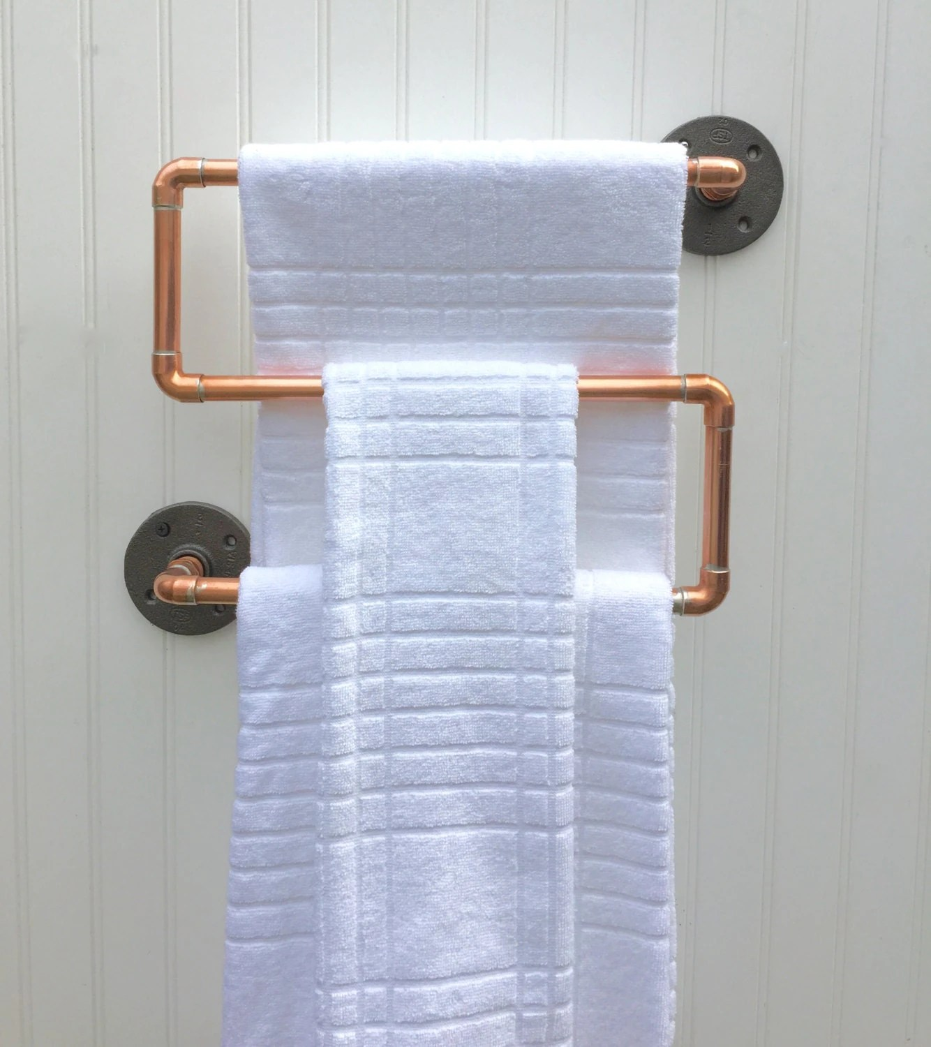 Adhesive Shower Curtain Rod Holders Copper Pipe Towel Rack Industrial Towel Bar Modern By