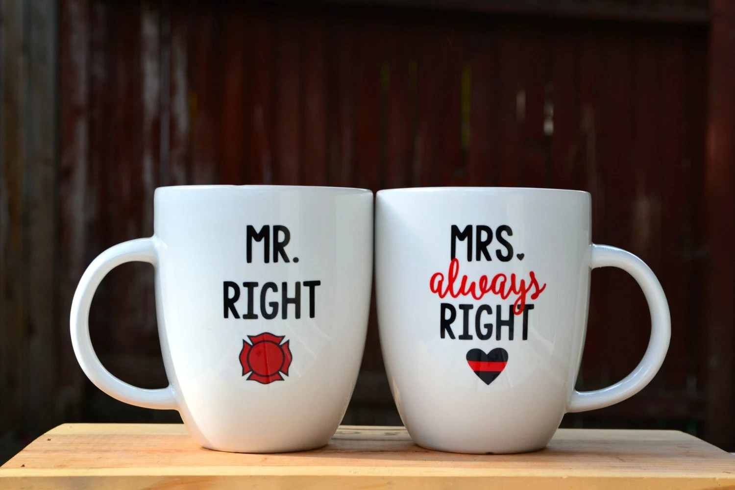 Mr Right Mrs Always Right Bettwäsche Mr Right And Mrs Always Right Firefighter Couple