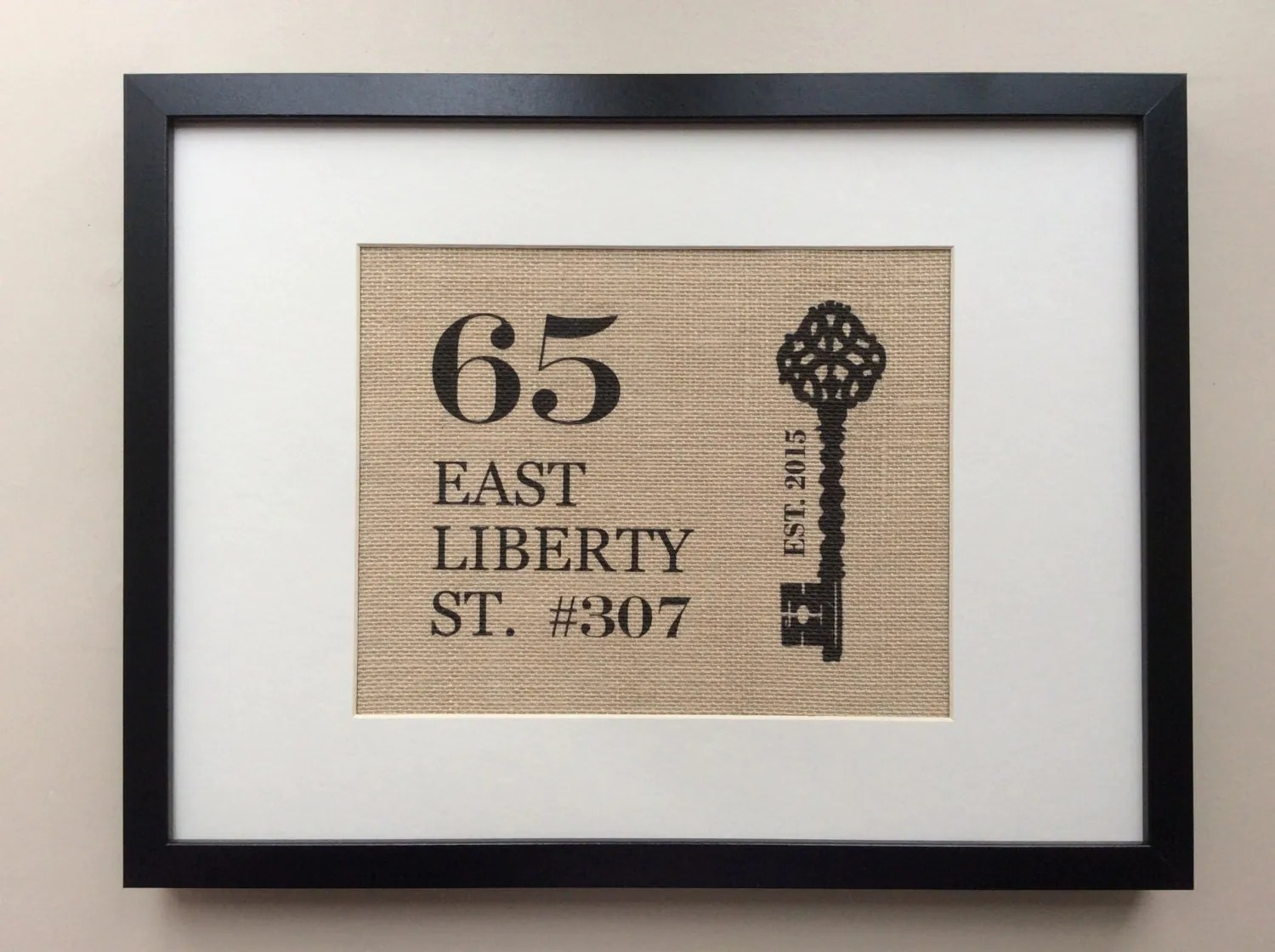 Personalized House Warming Gift New Home Gift Personalized Housewarming Gift Home Address