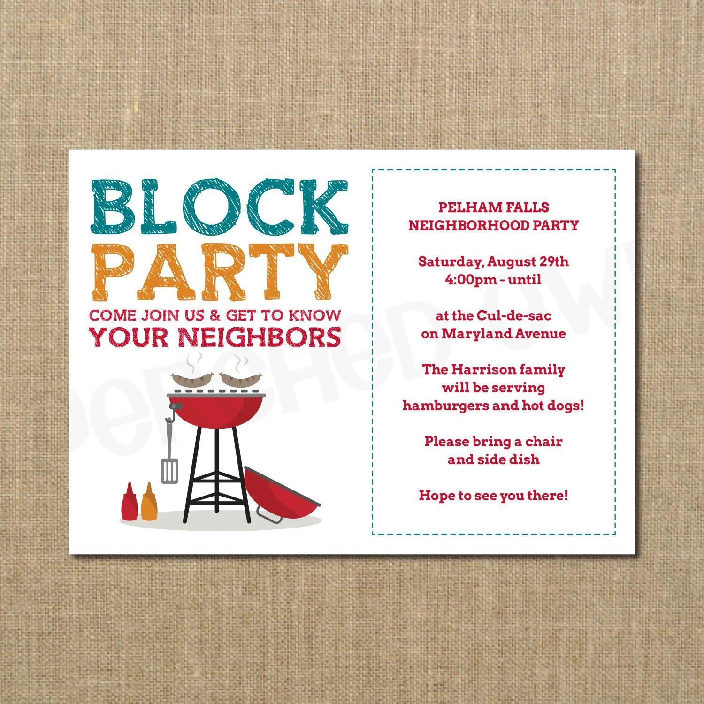 neighborhood block party flyer template