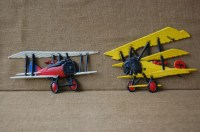 Vintage Pair of Painted Metal Airplane decor childs room wall