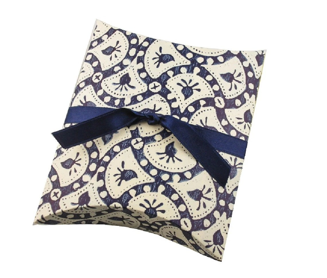 Blue Jewelry Gift Box Pillow Box Made With By Dressyourgift