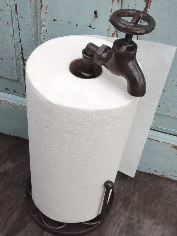 Metal Paper Towel Holder Faucet Metal Kitchen Decor Country