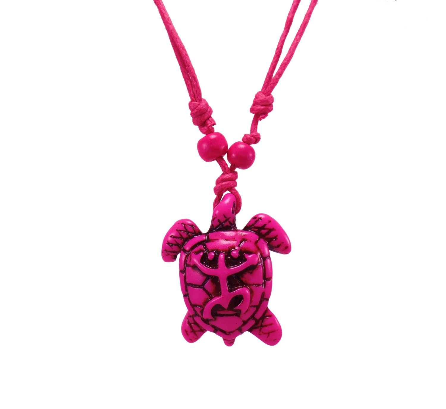 Pink Turtle Necklace Coqui Tribal Frog Necklace Sea