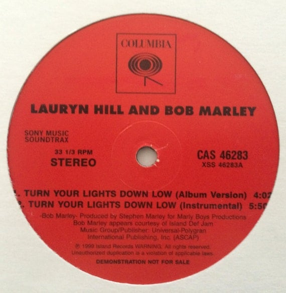 Bob Marley Feat Lauryn Hill Quotturn Your Lights Down Low