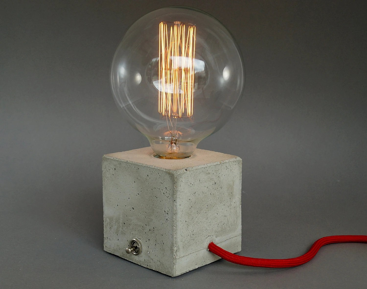Tischlampe Beton Concrete Lamp Table Lamp Bedside Lamp Cubo