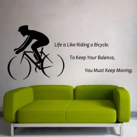Boy Cycling Wall Decals Quote Life Is Like Riding a by ...