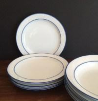 Items similar to Newcor Alyse Dinner Plates Hand Painted ...