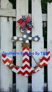 Wooden anchor door hanger wall decoration by ...