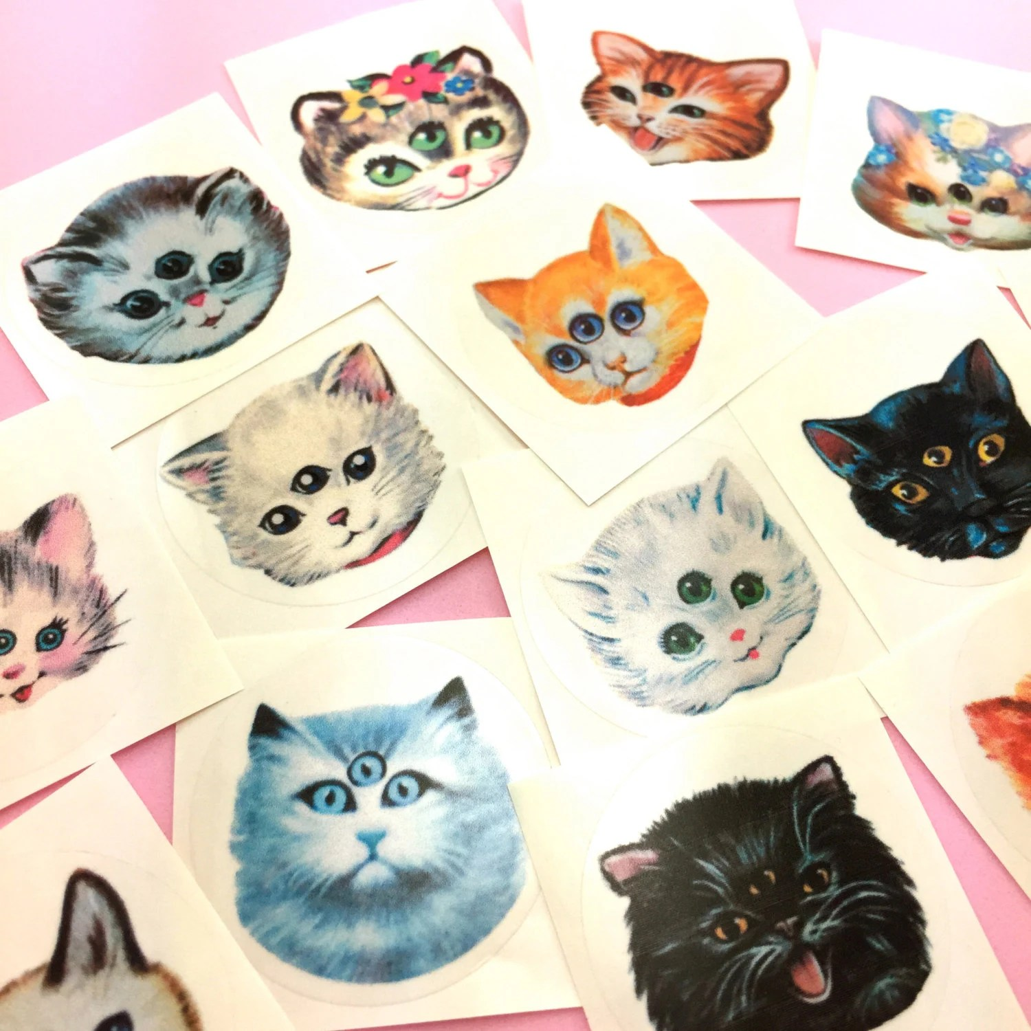 Cute Kitty Cat Wallpapers 3 Eyed Kitty Stickers Set Sideshow