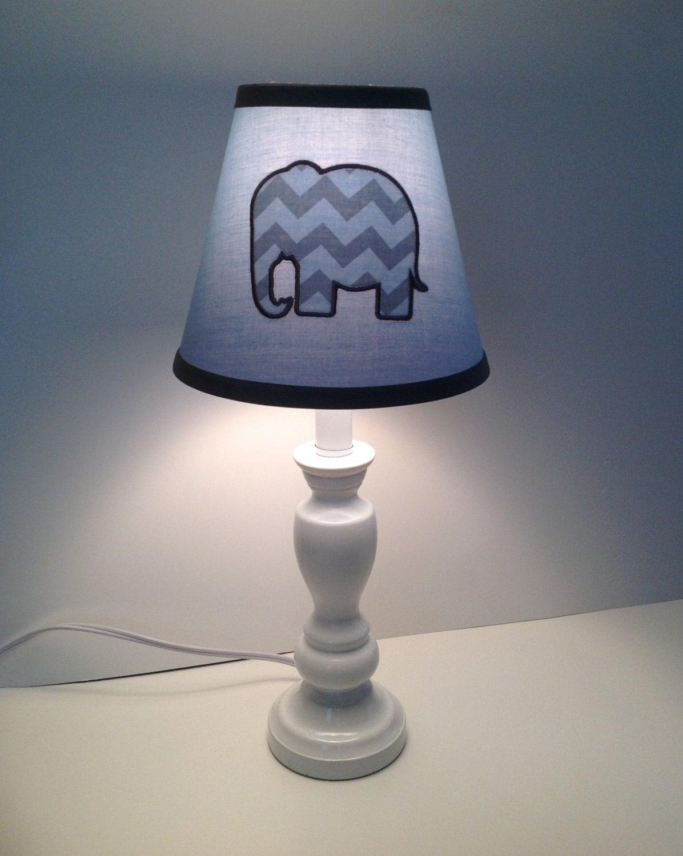 Elephant nursery children s lamp shade