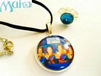 Mako Mermaids necklace and moonring. mermaid moon ring h2o